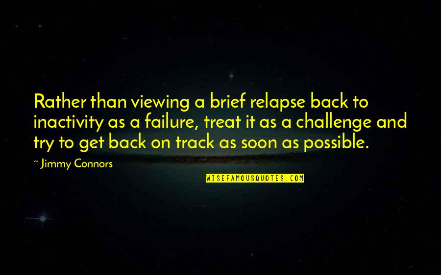 I Am Back On Track Quotes By Jimmy Connors: Rather than viewing a brief relapse back to
