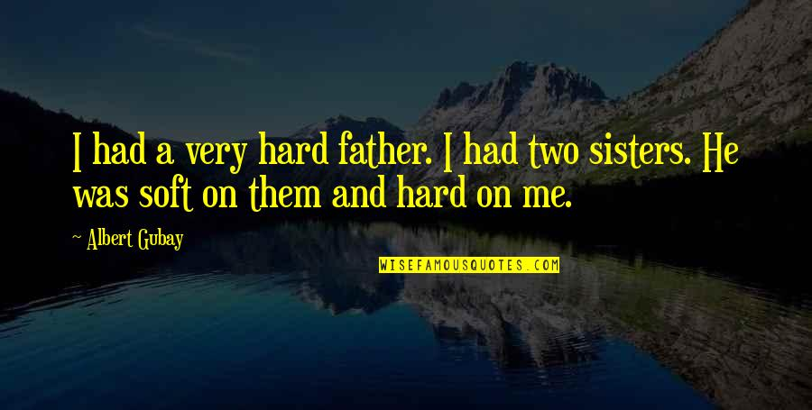 I Am Freaking Awesome Quotes By Albert Gubay: I had a very hard father. I had