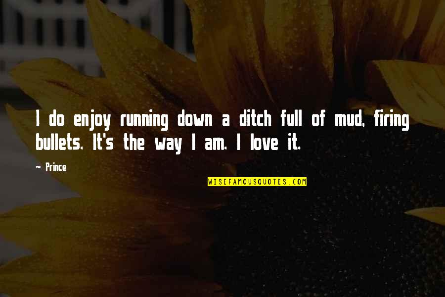 I Am Full Of Love Quotes By Prince: I do enjoy running down a ditch full