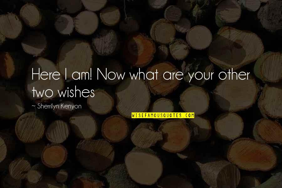 I Am Here Now Quotes By Sherrilyn Kenyon: Here I am! Now what are your other