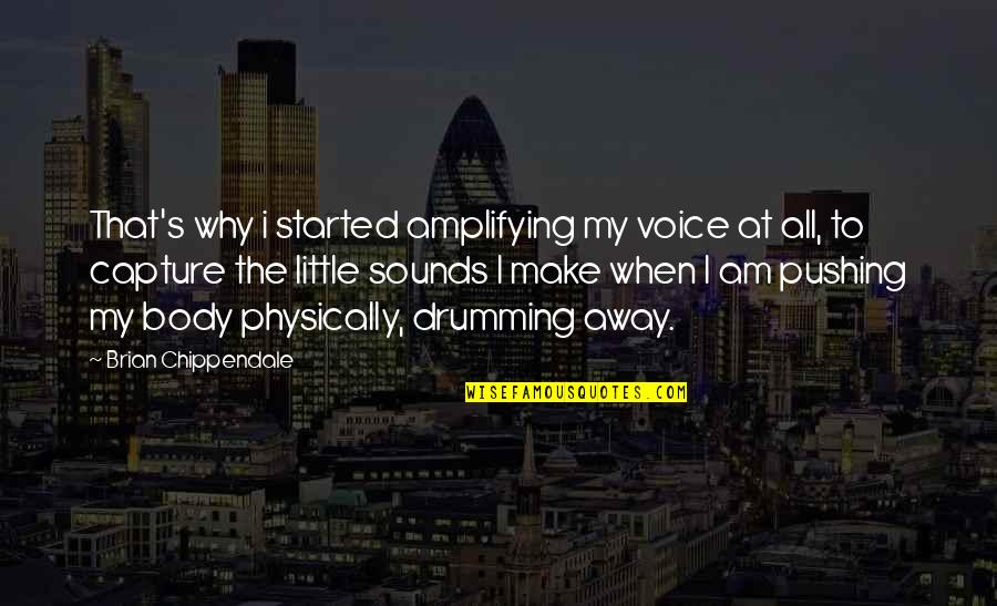 I Am Not Pushing You Away Quotes By Brian Chippendale: That's why i started amplifying my voice at