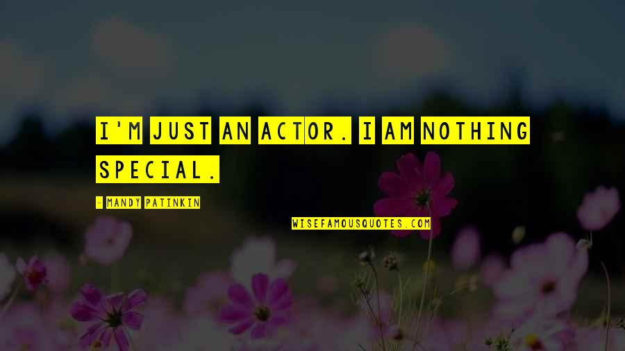 I Am Nothing Quotes By Mandy Patinkin: I'm just an actor. I am nothing special.