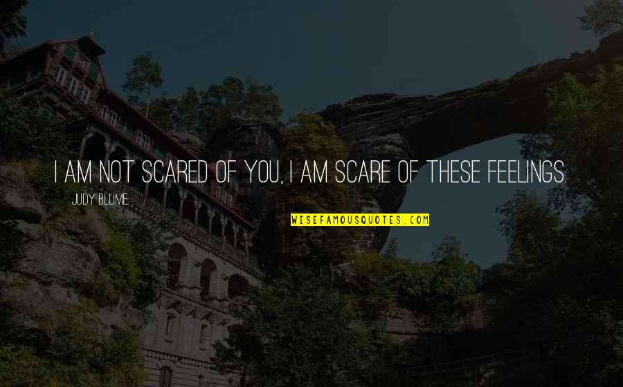 I Am Scared Quotes By Judy Blume: I am not scared of you, I am