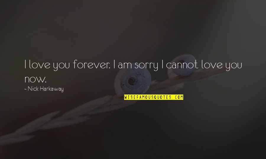 I Am Sorry Love Quotes By Nick Harkaway: I love you forever. I am sorry I