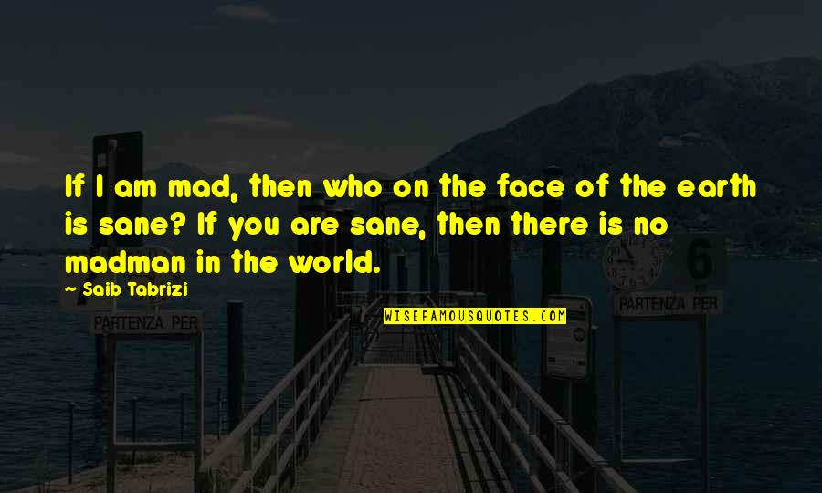 I Am There Quotes By Saib Tabrizi: If I am mad, then who on the