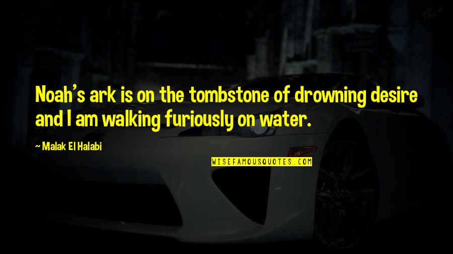 I Am Water Quotes By Malak El Halabi: Noah's ark is on the tombstone of drowning