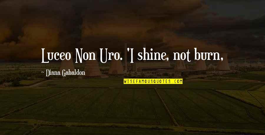 I Burn Quotes By Diana Gabaldon: Luceo Non Uro. 'I shine, not burn,