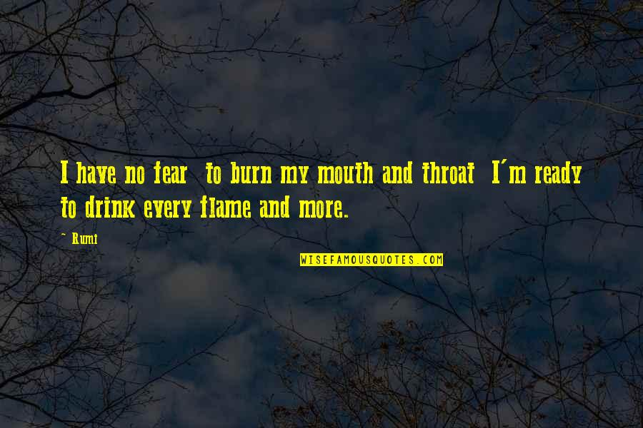 I Burn Quotes By Rumi: I have no fear to burn my mouth