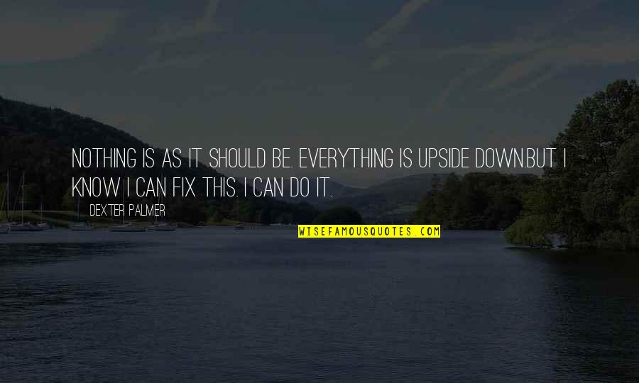 I Can Do Everything Quotes By Dexter Palmer: Nothing is as it should be. Everything is
