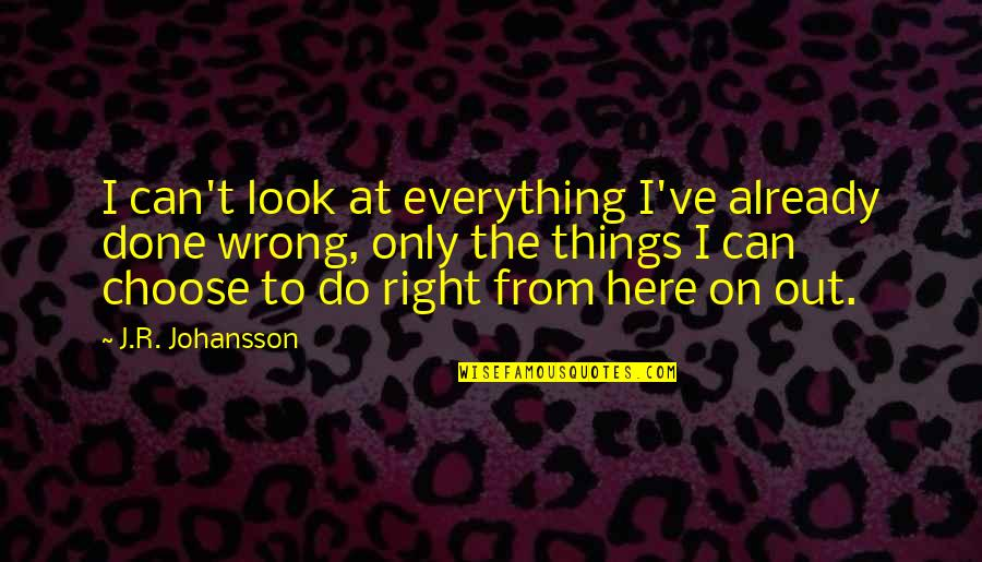 I Can Do Everything Quotes By J.R. Johansson: I can't look at everything I've already done