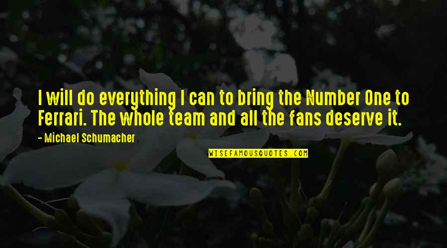 I Can Do Everything Quotes By Michael Schumacher: I will do everything I can to bring