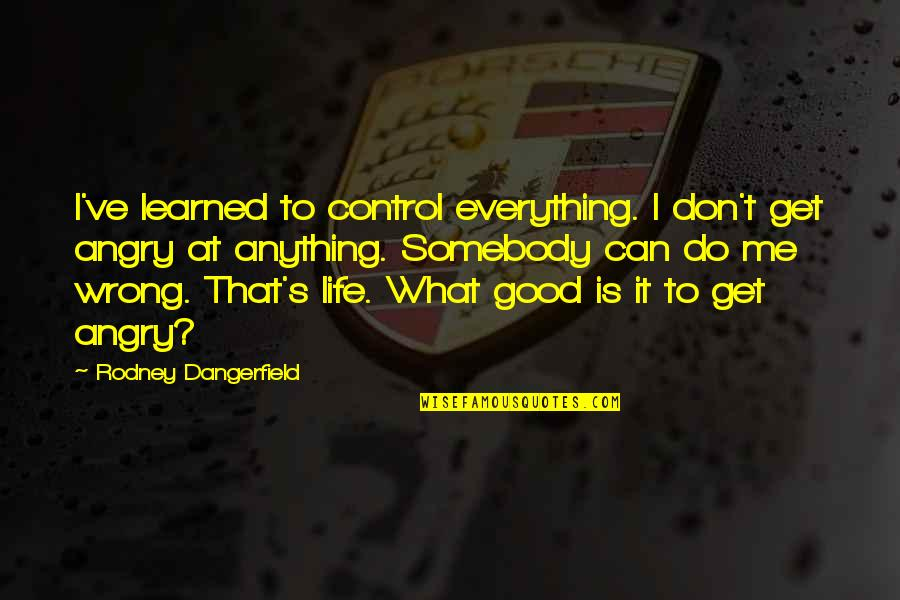 I Can Do Everything Quotes By Rodney Dangerfield: I've learned to control everything. I don't get