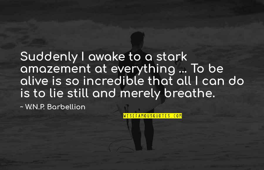 I Can Do Everything Quotes By W.N.P. Barbellion: Suddenly I awake to a stark amazement at