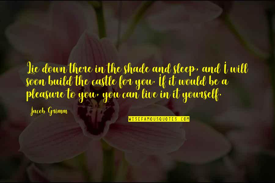 I Can't Be There For You Quotes By Jacob Grimm: Lie down there in the shade and sleep,