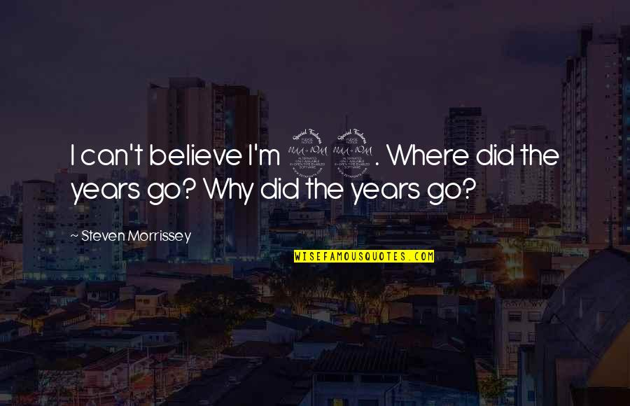 I Can't Believe I Did That Quotes By Steven Morrissey: I can't believe I'm 29. Where did the
