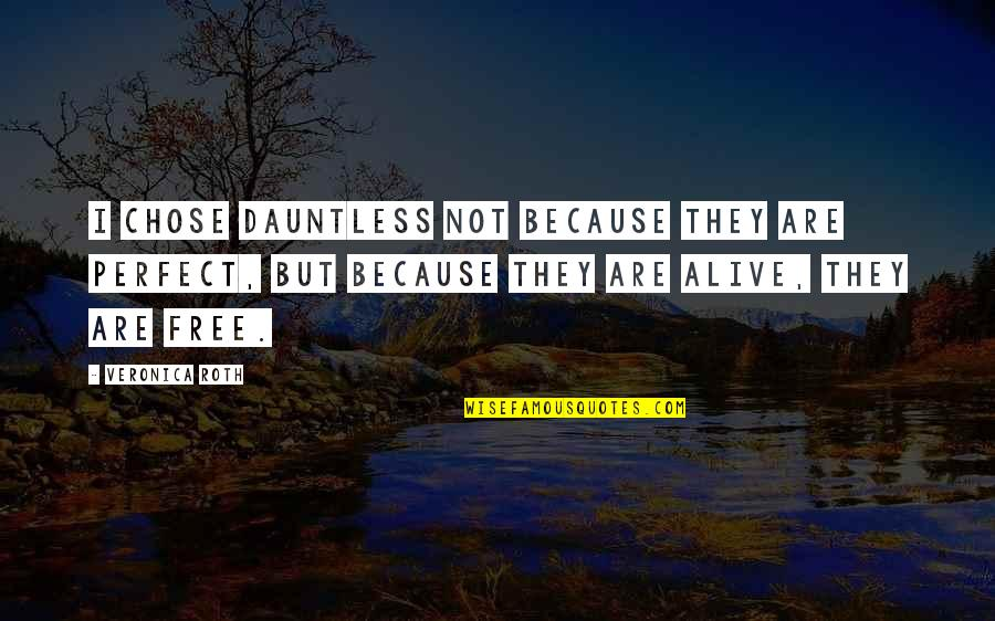 I Chose You Because Quotes By Veronica Roth: I chose Dauntless not because they are perfect,