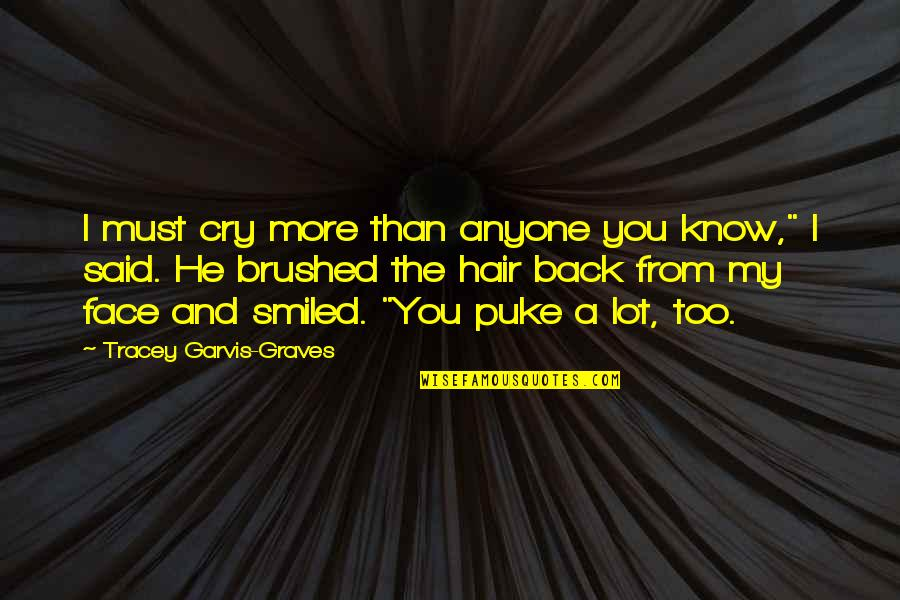 """I Cry A Lot Quotes By Tracey Garvis-Graves: I must cry more than anyone you know,"""""""