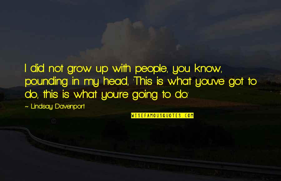 I Did Not Know Quotes By Lindsay Davenport: I did not grow up with people, you