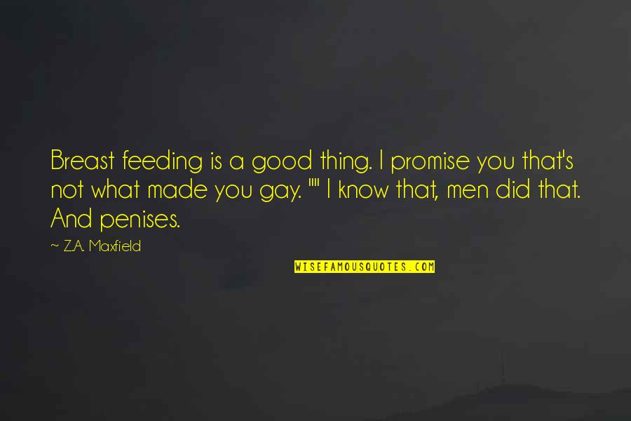 I Did Not Know Quotes By Z.A. Maxfield: Breast feeding is a good thing. I promise