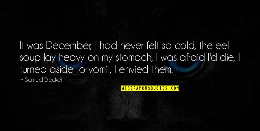 I Dont Know Whats Wrong With Me Quotes By Samuel Beckett: It was December, I had never felt so