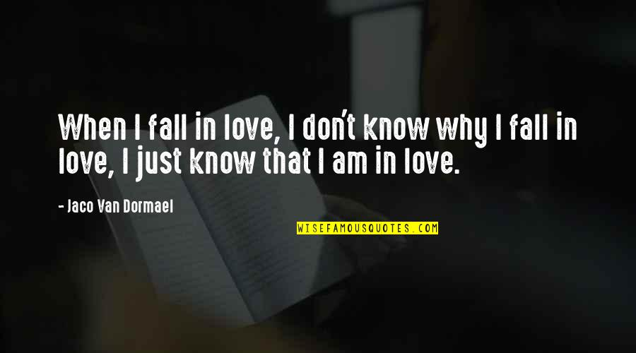 I Don't Know Why I Love You Quotes By Jaco Van Dormael: When I fall in love, I don't know