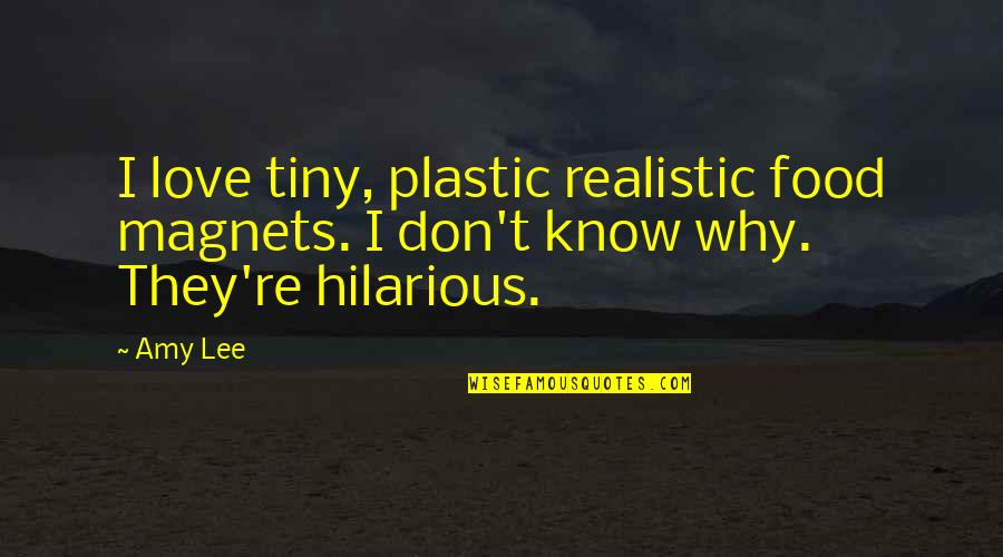 I Don't Know Why I Love You So Much Quotes By Amy Lee: I love tiny, plastic realistic food magnets. I