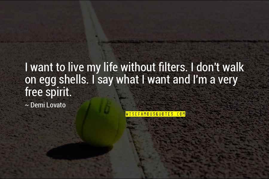 I Don't Want To Live More Quotes By Demi Lovato: I want to live my life without filters.