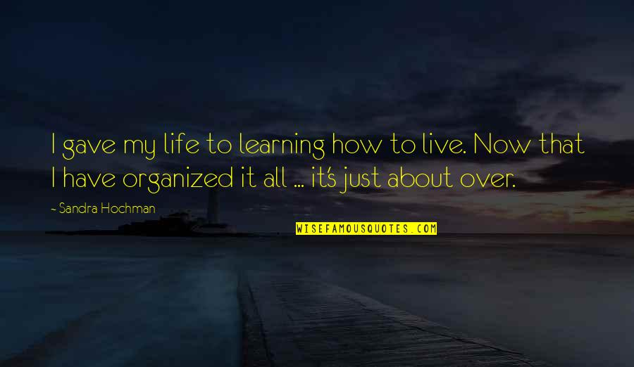 I Gave My All Quotes By Sandra Hochman: I gave my life to learning how to