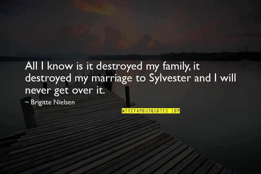 I Get Over It Quotes By Brigitte Nielsen: All I know is it destroyed my family,