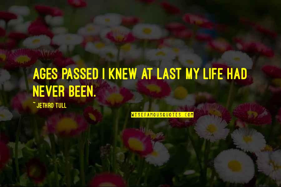 I Had Quotes By Jethro Tull: Ages passed I knew at last my life