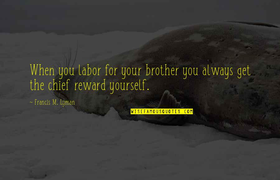 I Hate Casteism Quotes By Francis M. Lyman: When you labor for your brother you always