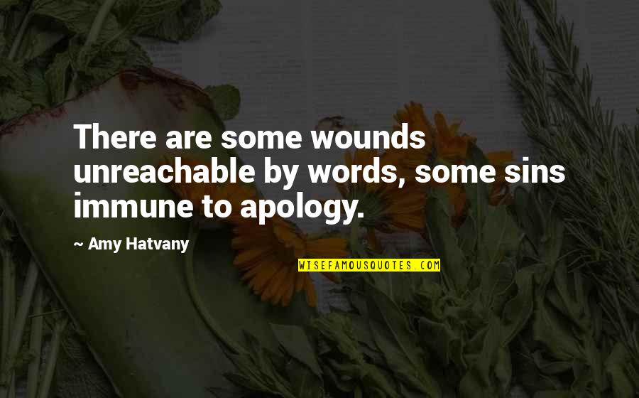 I Hate Walmart Quotes By Amy Hatvany: There are some wounds unreachable by words, some