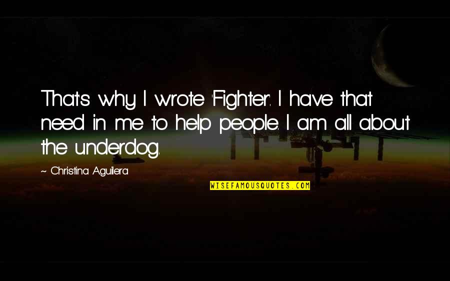I Have All I Need Quotes By Christina Aguilera: That's why I wrote 'Fighter'. I have that
