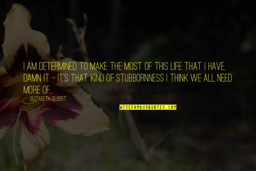 I Have All I Need Quotes By Elizabeth Gilbert: I am determined to make the most of