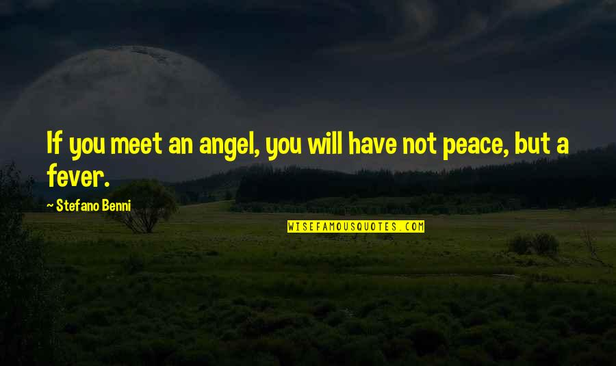 I Have Fever Quotes By Stefano Benni: If you meet an angel, you will have
