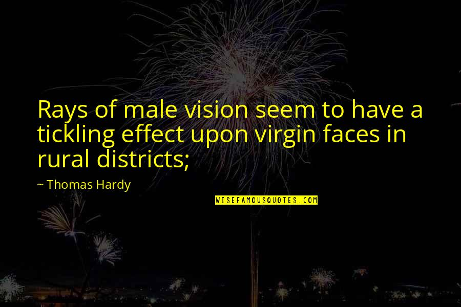 I Have Many Faces Quotes By Thomas Hardy: Rays of male vision seem to have a