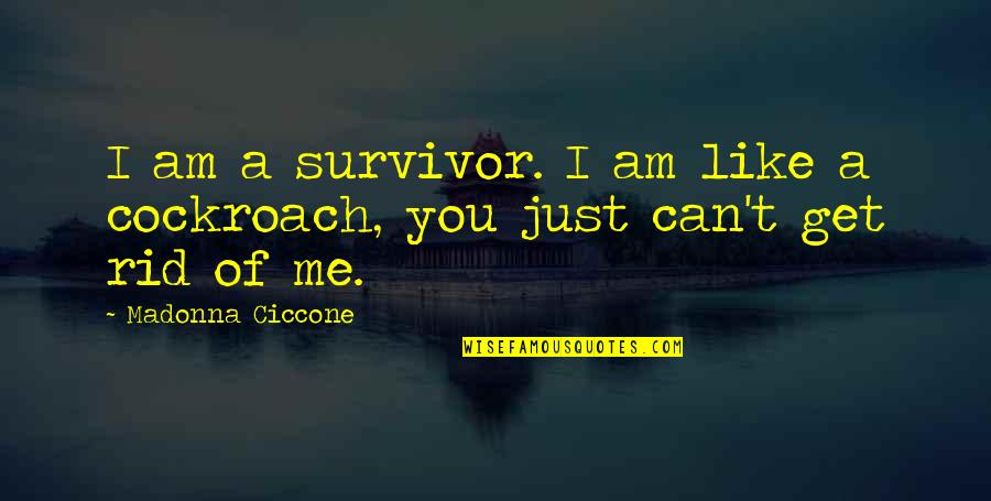 I Just Me You Quotes By Madonna Ciccone: I am a survivor. I am like a