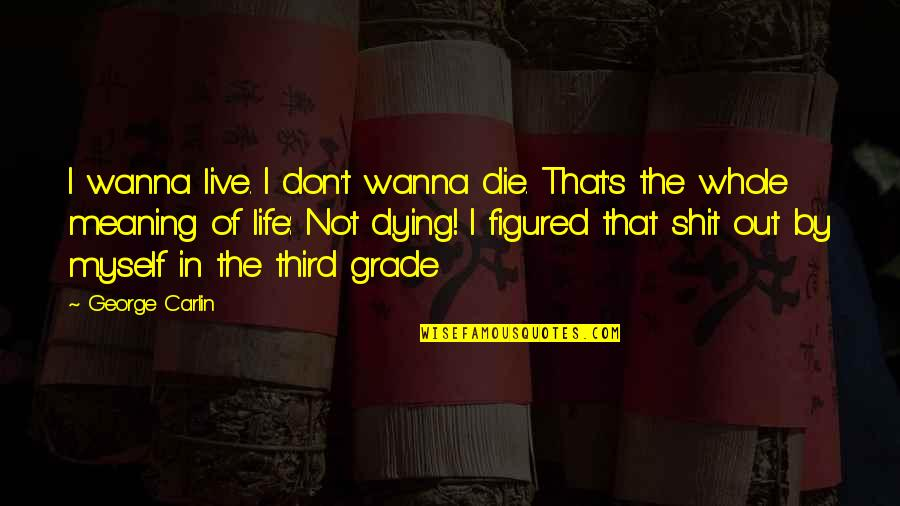 I Just Wanna Live Quotes By George Carlin: I wanna live. I don't wanna die. That's