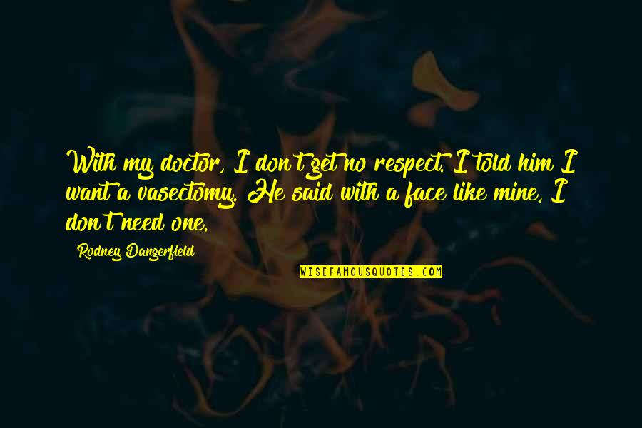 I Just Want Respect Quotes By Rodney Dangerfield: With my doctor, I don't get no respect.
