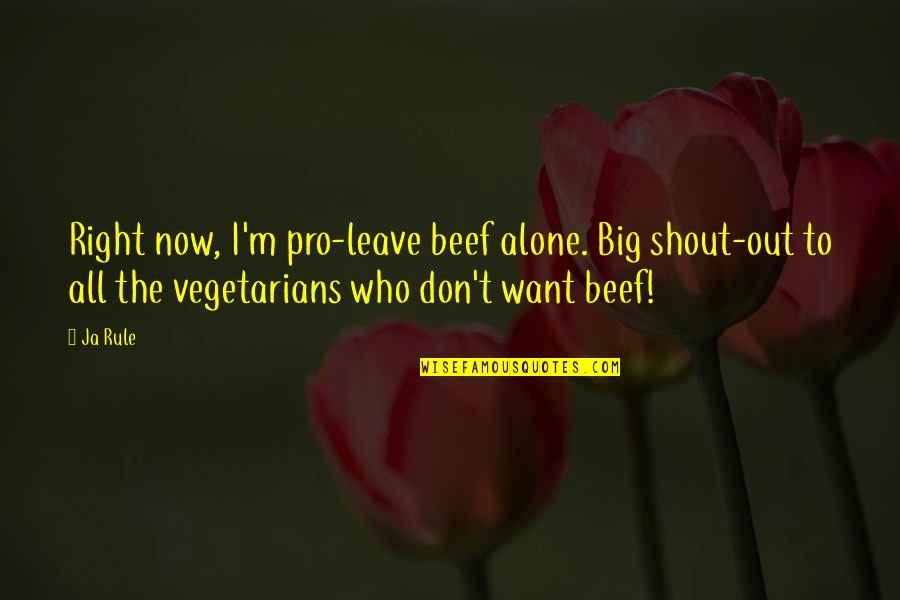 I Just Want To Leave Quotes By Ja Rule: Right now, I'm pro-leave beef alone. Big shout-out