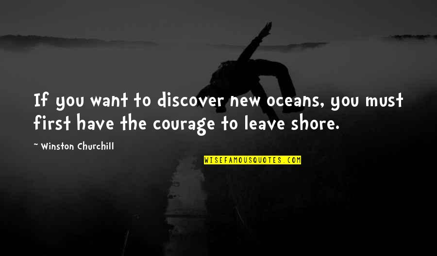 I Just Want To Leave Quotes By Winston Churchill: If you want to discover new oceans, you
