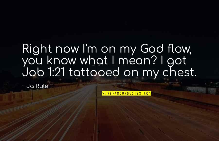 I Know I'm Right Quotes By Ja Rule: Right now I'm on my God flow, you