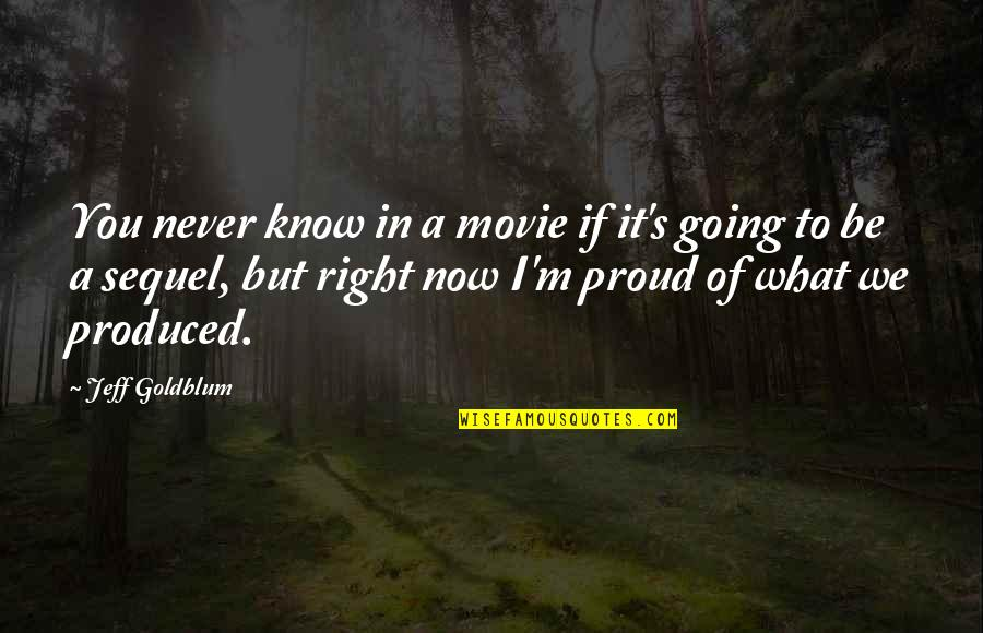 I Know I'm Right Quotes By Jeff Goldblum: You never know in a movie if it's