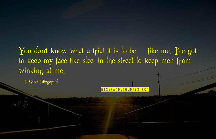 I Know You Don't Like Me Quotes By F Scott Fitzgerald: You don't know what a trial it is