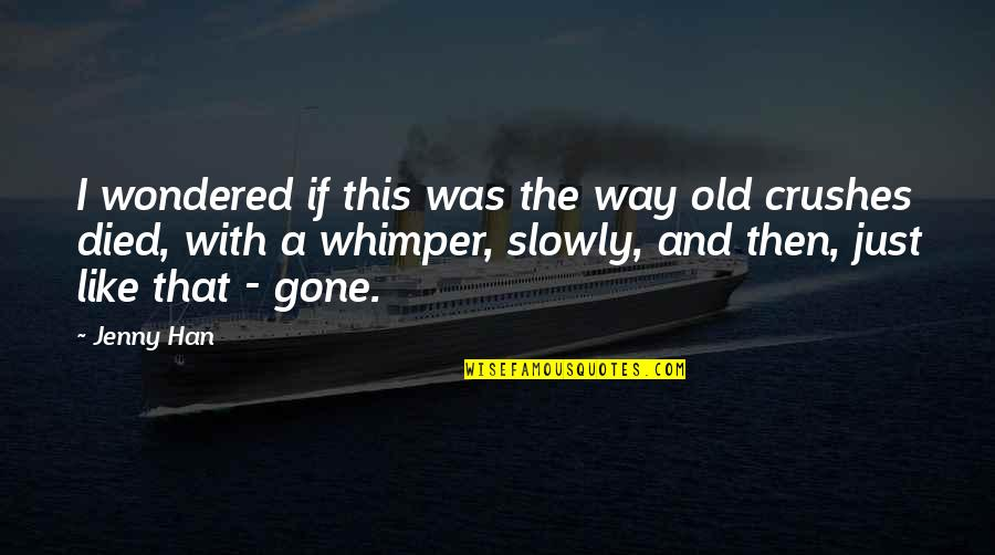 I Like The Old You Quotes By Jenny Han: I wondered if this was the way old