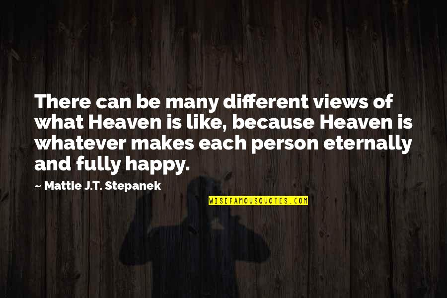I Like You Because Your Different Quotes By Mattie J.T. Stepanek: There can be many different views of what