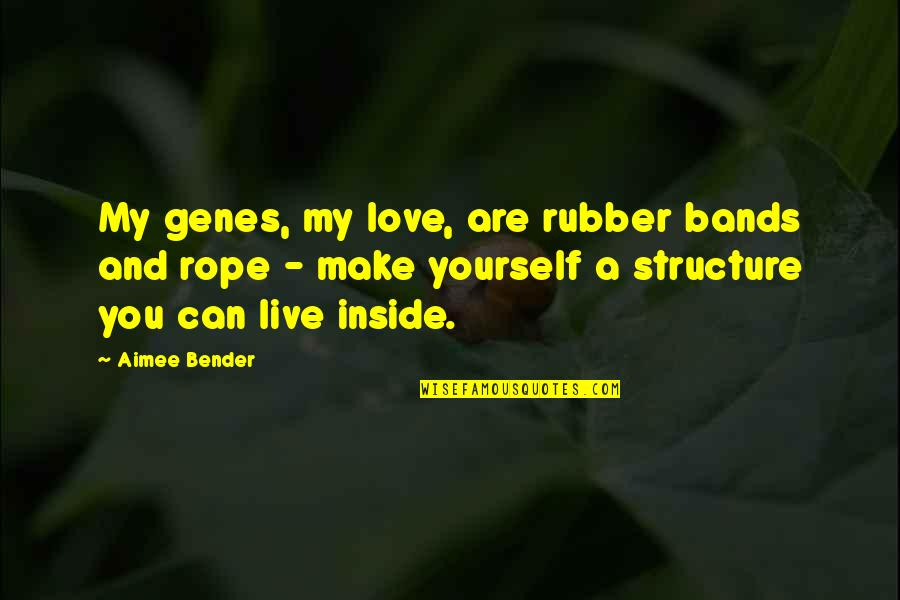 I Love Bands Quotes By Aimee Bender: My genes, my love, are rubber bands and
