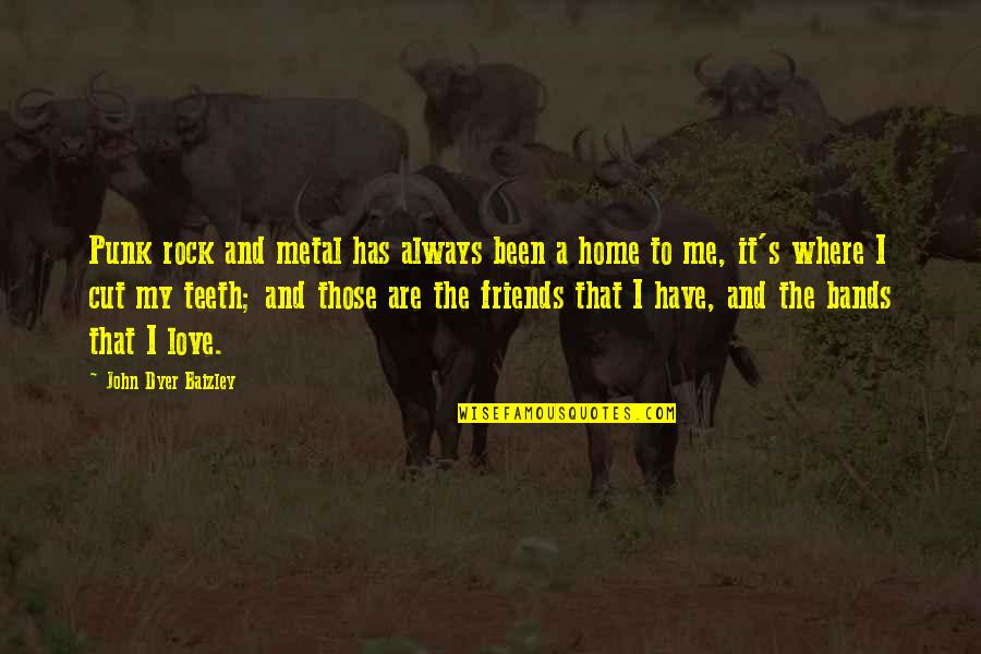 I Love Bands Quotes By John Dyer Baizley: Punk rock and metal has always been a