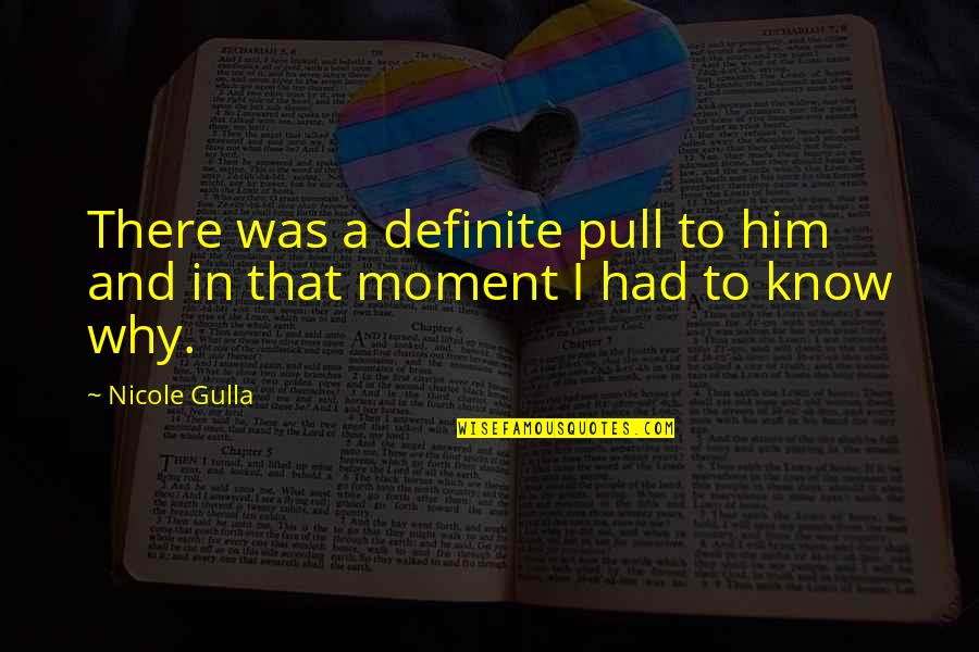 I Love Him Quotes By Nicole Gulla: There was a definite pull to him and