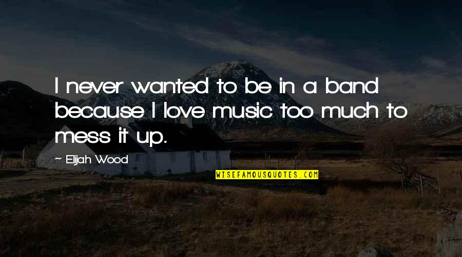 I Love Music Because Quotes By Elijah Wood: I never wanted to be in a band
